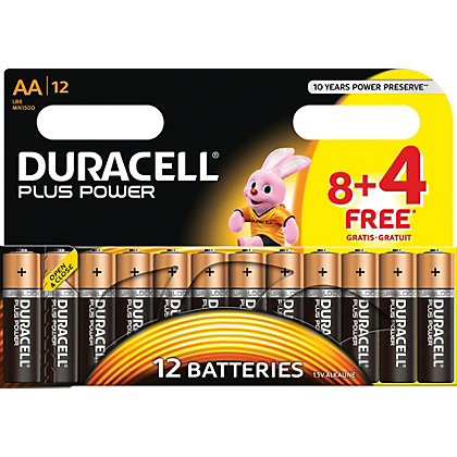 Image for Duracell Plus Power 8 Plus 4 AA Batteries from StoreName