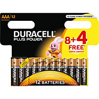 Duracell Plus Power 8 Plus 4 AAA Batteries