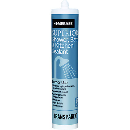 Image for Homebase Superior Shower & Bath & Kitchen Sealant - Transparent from StoreName