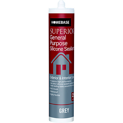 Image for Homebase Superior GP Silicone Sealant - Grey from StoreName