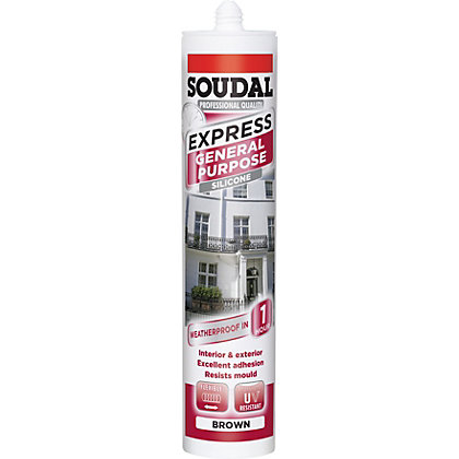 Image for Soudal Express General Purpose Sealant - Brown from StoreName