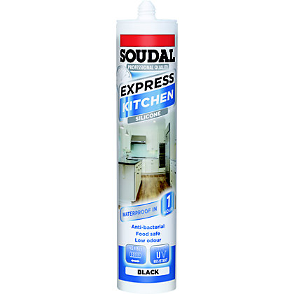 Image for Soudal Express Kitchen Sealant - Black from StoreName