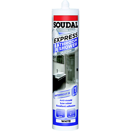 Image for Soudal Express Shower & Bath Sealant - White from StoreName