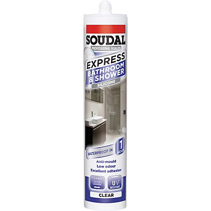 Image for Soudal Express Shower & Bath Sealant - Clear from StoreName