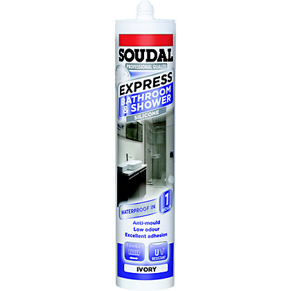 Image for Soudal Express Shower & Bath Sealant - Ivory from StoreName