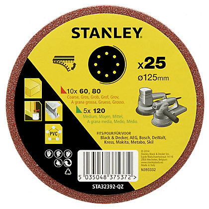 Image for Stanley 125mm Drill Hook and Loop Backing Pad - STA32292-XJ from StoreName