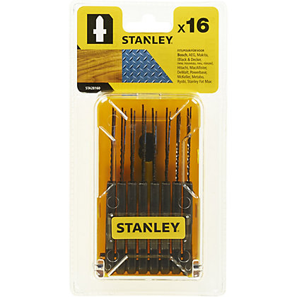 Image for Stanley 16 Pc Jigsaw Blade Set - STA28160-XJ from StoreName