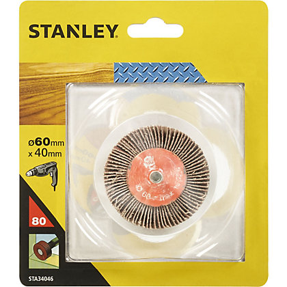 Image for Stanley 60mm Flap Wheel 80G - STA34046-XJ from StoreName