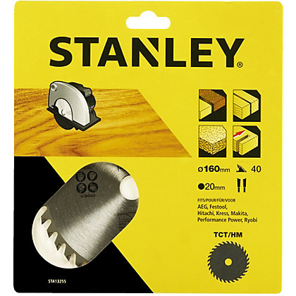 Image for Stanley Circular Saw Blade 160x20x40T - STA13255-XJ from StoreName
