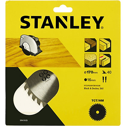 Image for Stanley Circular Saw Blade 170x16x40T - STA13125-XJ from StoreName