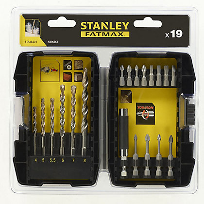 Image for Fatmax 19Pc Masonry Drill & Screwdriving - STA88201-XJ from StoreName