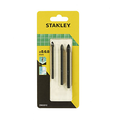 Image for Stanley 3Pc Tile Drill Bit Set - STA53312-QZ from StoreName