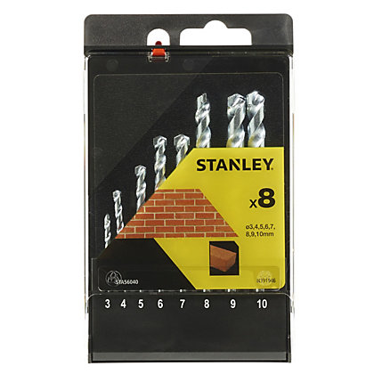 Image for Stanley 8Pc Masonry Drill Bit Set - STA56040-QZ from StoreName