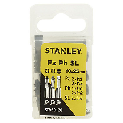 Image for Fatmax 10Pc Mixed PZ/PH/Slotted 25mm - STA60120-XJ from StoreName