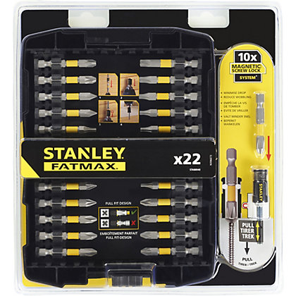 Image for Stanley Fatmax 22 Piece Screw Lock Screwdriver Set 50mm - STA88040-XJ from StoreName