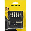 Stanley 6Pc Screwdriver Bit Set + Handle - STA60480-XJ