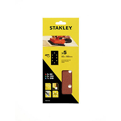 Image for Stanley 1/3 Sheet Sander Mixed Hook & Loop Sanding Sheets - STA31532-XJ from StoreName