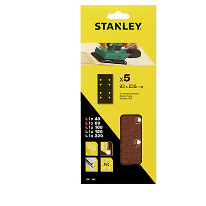 Image for Stanley 1/3 Sheet Sander Mixed Wire Clip Sanding Sheets from StoreName