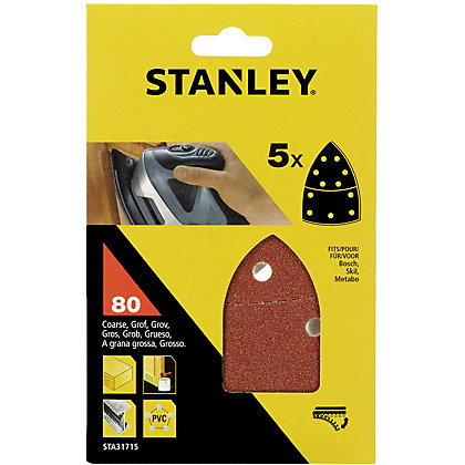 Image for Stanley Detail Sander Sheets 80G - STA31715-XJ from StoreName