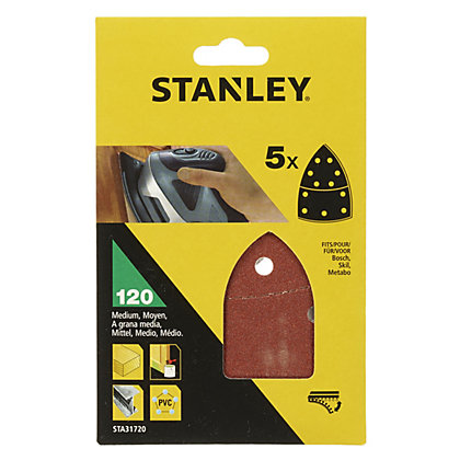 Image for Stanley Detail Sander Sheets 120G - STA31720-XJ from StoreName