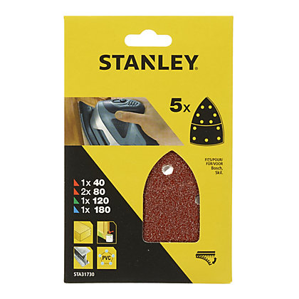 Image for Stanley Detail Sander Sheets Mixed Pack - STA31730-XJ from StoreName