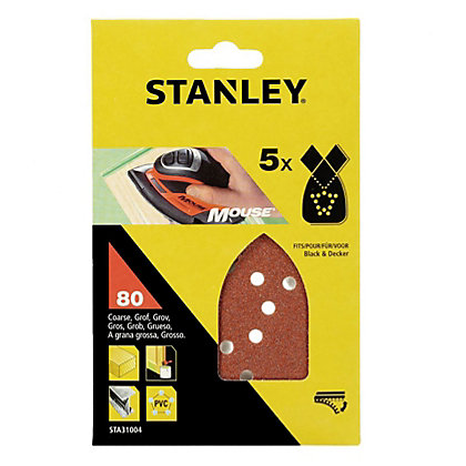 Image for Stanley Mouse Sanding Sheets - 80G - STA31004-XJ from StoreName
