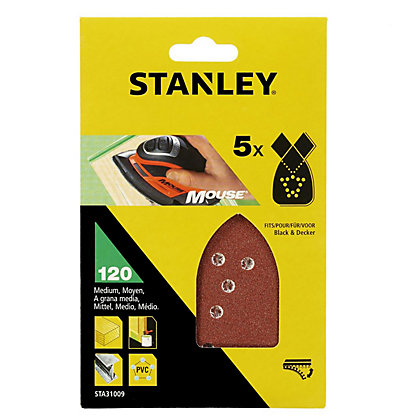Image for Stanley Mouse Sanding Sheets 120G - STA31009-XJ from StoreName
