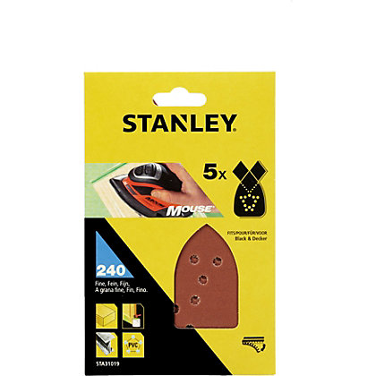 Image for Stanley Mouse Sanding Sheets - 240G - STA31019-XJ from StoreName