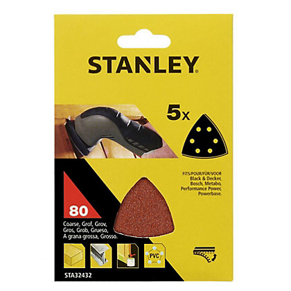 Image for Stanley Delta Head Sander Sheets 80G - STA32432-XJ from StoreName
