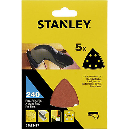 Image for Stanley Delta Head Sanding Sheets 240G - STA32437-XJ from StoreName