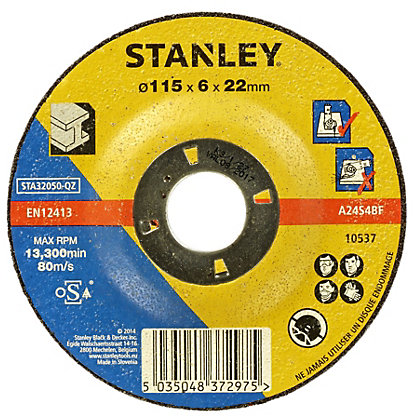 Image for Stanley 115mm Metal Grinding Disc - STA32050-QZ from StoreName