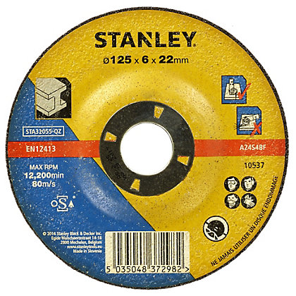 Image for Stanley 125mm Metal Grinding Disc - STA32055-QZ from StoreName