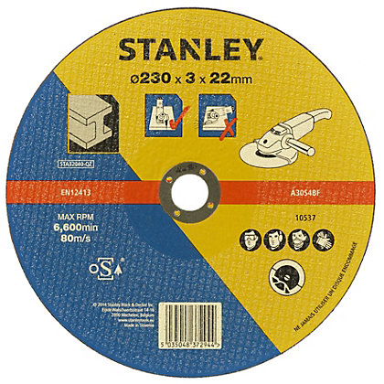 Image for Stanley 230mm Metal Cutting Disc - STA32040-QZ from StoreName