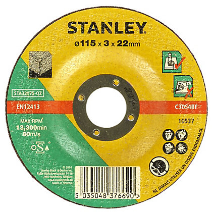 Image for Stanley 115mm Stone Cutting Disc - STA32075-QZ from StoreName