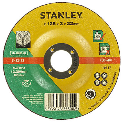 Image for Stanley 125mm Stone Cutting Disc - STA32080-QZ from StoreName