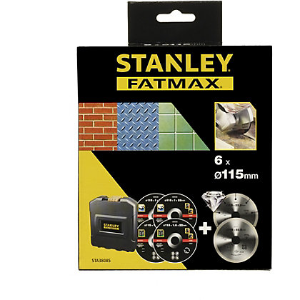 Image for Stanley Fatmax 115mm Diamond & Bonded Disc Set - STA38085-XJ from StoreName