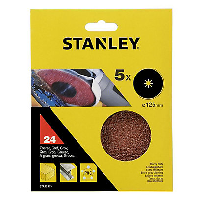 Image for Stanley 125mm Grinding Pads 24G - STA32175-XJ from StoreName