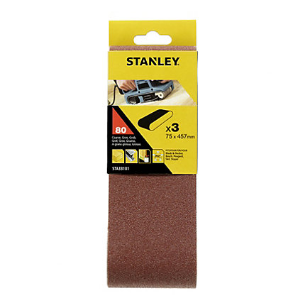 Image for Stanley Belt Sander Belts 75x457 80G - STA33101-XJ from StoreName