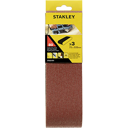 Image for Stanley Belt Sander Belts 75x533 80G - STA33191-XJ from StoreName
