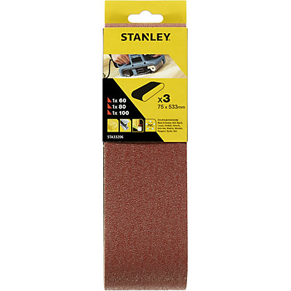 Image for Stanley Belt Sander Belts 75x533 Mixed - STA33206-XJ from StoreName