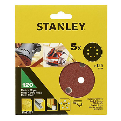 Image for Stanley 125mm ROS Sheets 120G - STA32037-XJ from StoreName