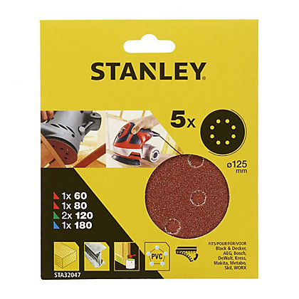 Image for Stanley 125mm ROS Sheets Mixed - STA32047-XJ from StoreName