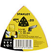 Stanley Delta Head Sanding Sheet Mixed Pack of 20 - STA32397-QZ