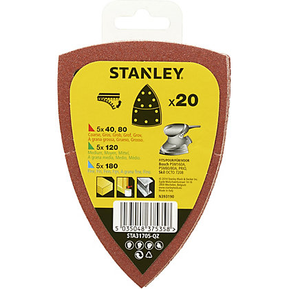 Image for Stanley Detail Sander Sheet Spar Pack - STA31705-QZ from StoreName
