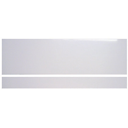 Image for White Gloss MDF Vinyl Bath Panel Front with Vinyl Plinth from StoreName