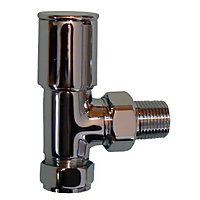 Optima Angled Towel Warmer Valve - Chrome Plated - 15mm