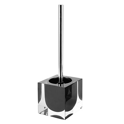 Image for Cubic Toilet Brush Holder - Black from StoreName