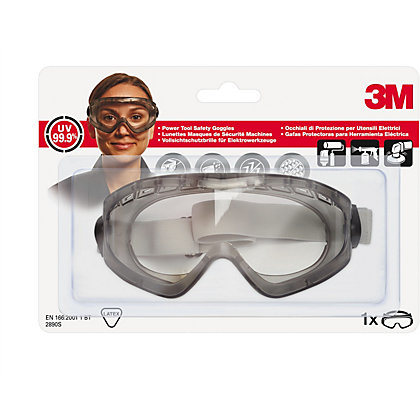 Image for 3M 2890S C1 Clear Splash Protection Safety Goggle from StoreName