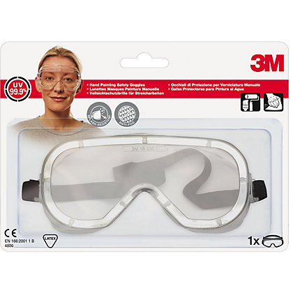 Image for 3M 4800 C1 Clear Splash Protection Safety Goggle from StoreName