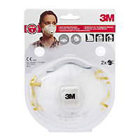 3M 8812 C2 Cup Shaped Particulate Respirator Mask With Exhalation Valve
